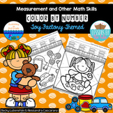 Measurement, Addition, and Subtraction Color By Number~ Toy Factory Themed