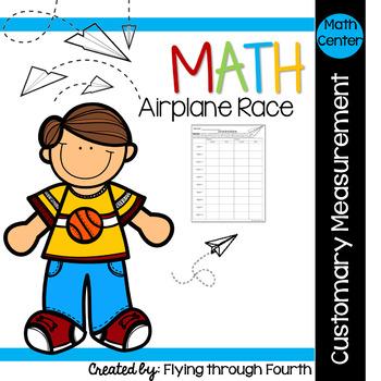 Measurement {Airplane Race} Math Center