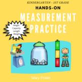 Measurement Anchor Chart for Kindergarten