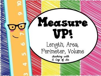 Measurement Anchor Charts: Length, Perimeter, Area, Volume