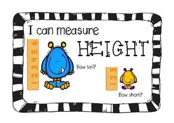 Measurement Anchor Charts & Measurement Printables/Recording Sheets