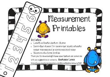 Measurement Anchor Charts & Measurement Printables/Recordi