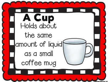 Measurement Anchor Charts/Posters, Flashcards, & Quiz: Real Life Benchmarks NEW!