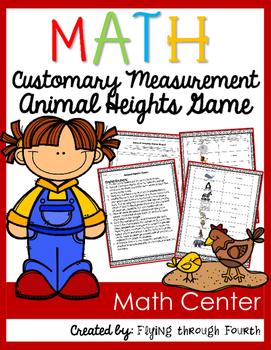 Measurement {Animal Heights} Customary Units Math Center