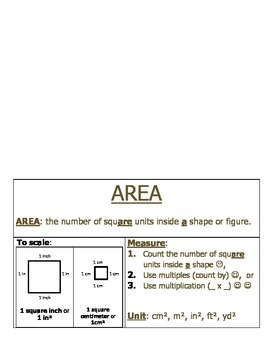 Measurement: Area Foldable