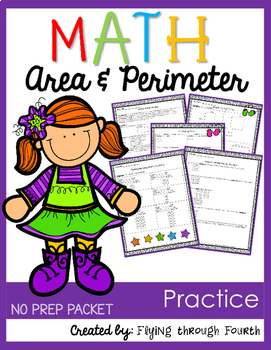 Measurement {Area & Perimeter Practice} NO PREP PACKET
