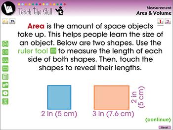 Measurement: Area & Volume - PC Gr. PK-2