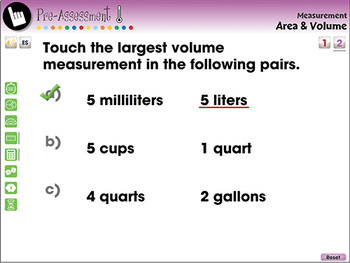 Measurement: Area & Volume - Pre-Assessment & Teach the Skill -NOTEBOOK Gr. PK-2