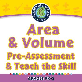 Measurement: Area & Volume - Pre-Assessment & Teach the Skill - PC Gr. PK-2