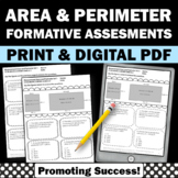 Area and Perimeter Worksheets 4th Grade Math Review Common Core  4.MD.A.3