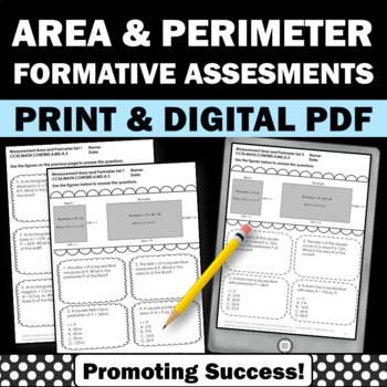 4th Grade Area and Perimeter Word Problems Worksheets, Practice or Review