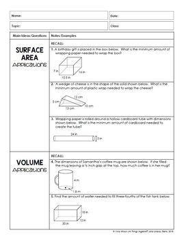 Measurement: Area and Volume (Math 7 Curriculum – Unit 7)