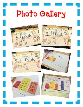 Measurement Art Activity Project - Create a House, Beach, Street Scene - Inches