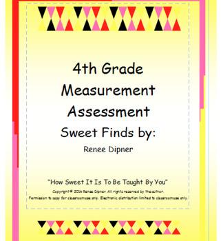 Measurement Assessment 4th Grade
