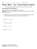 Measurement Assessment/Exam/Test