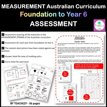 Measurement Assessment Foundation to Year 6