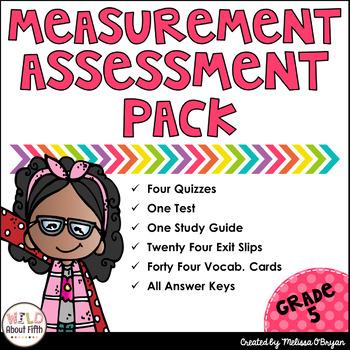 Measurement Assessment Pack Grade 5 (Conversions, Line Plots, Volume)