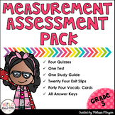 Measurement Assessment Pack Grade 5 (Conversions, Line Plots, Volume)
