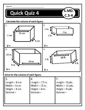 Measurement Assessments: 5.MD