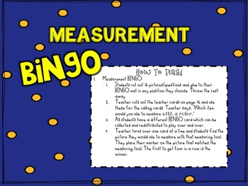 Measurement BINGO!