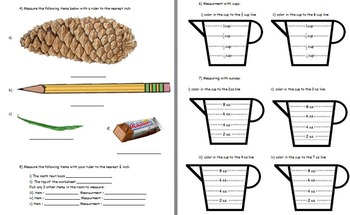 Basic Math Skills - Basic Measurement Skills (worksheet included) (POWERPOINT)