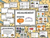 Measurement Bats, Fall, Turkeys, Pumpkins, Spiders, Ghosts - Kindergarten Math