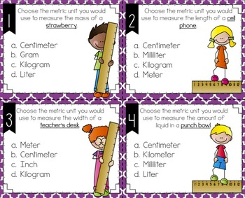 Measurement Benchmark Posters and Task Cards