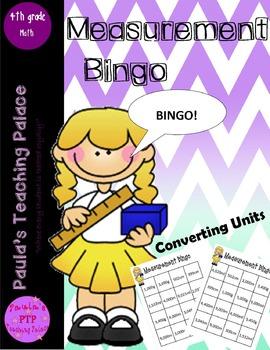 Measurement Bingo, converting