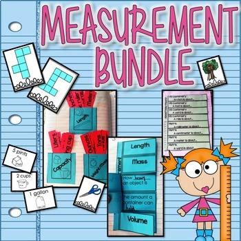 Measurement Interactive Notebook & Game BUNDLE