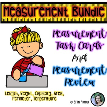 Measurement Bundle: Length, Weight, Capacity, Area, Perimeter, & Temperature