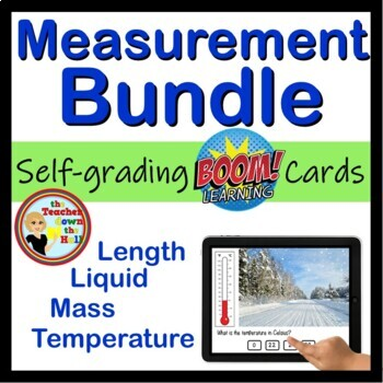 Measurement Bundle - (Length, Liquid, Mass, Temperature) 96 Boom Cards!