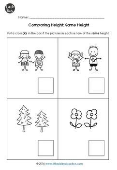 Comparing size, Mathematics skills online, interactive activity ...