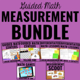 Measurement Bundle for Guided Math   Linear Measurement, Time, Mass, Capacity