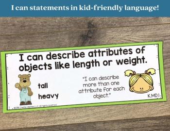 Measurement Bundle for Kindergarten