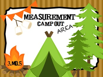 Measurement Camp Out PPT Game: Finding AREA 3.MD.5