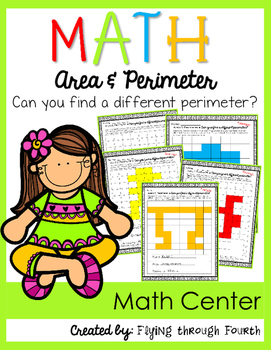 Measurement {Can you find the perimeter?} Math Center