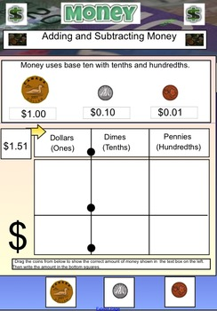 Measurement - Canadian Money Unit - Adding and Subtracting Decimals