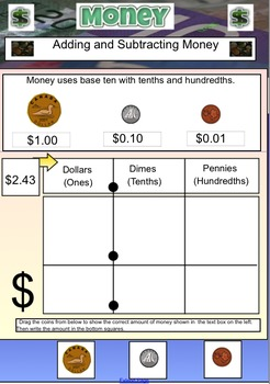 Measurement - Canadian Money Unit - Adding and Subtracting Decimals