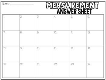 Measurement --Capacity Task Cards