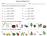 Measurement: Capacity and Weight Test