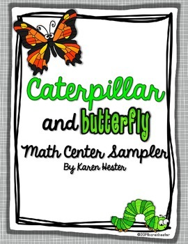 Measurement: Caterpillar and Butterfly Math Center Sampler