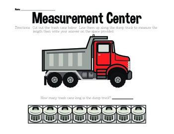 Measurement Center Activity Sheets