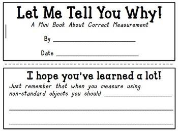 Non Standard Measurement Center Mini Book