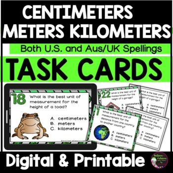 Measurement - Centimeters, Meters, and Kilometers (US and AUS/UK versions)