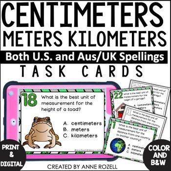 Measurement - Centimeters, Meters, and Kilometers (US and AUS/UK versions)