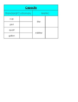 Measurement Charts for Notebooks *MD.1*