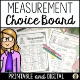 Measurement Choice Board - CCSS Aligned!