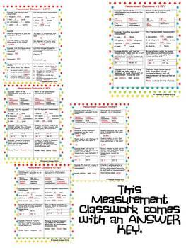 Measurement Classwork