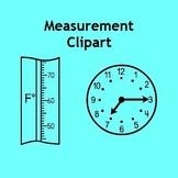 Measurement Clip Art - Capacity, Clocks, Rulers, Scales, T