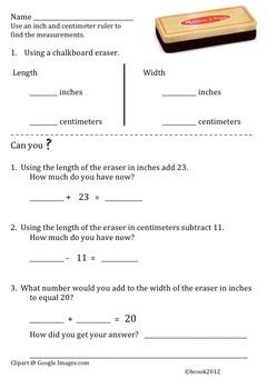 Measurement Common Core Grade 1-2